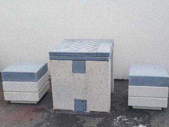 Chess Table chairs set
