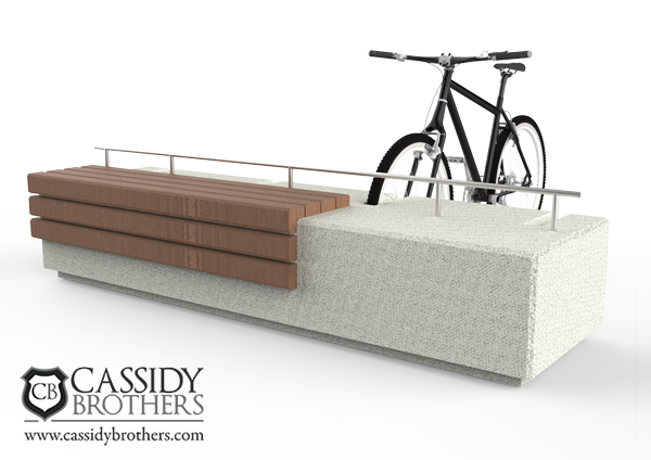 Concrete Bike rack with seating