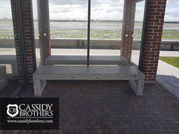 bus shelter bench installation