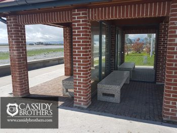 bus shelter bench