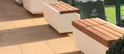 Cheshire concrete bench